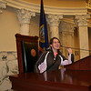 Olga is in the Idaho Senate Chambers.