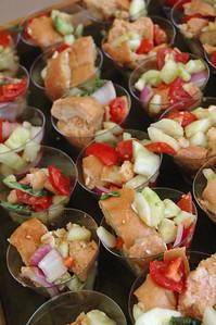 Panzanella (Tuscan Bread Salad) with Organic Ollive Oil Vinaigrette