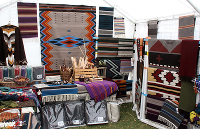 Woven blankets ... we are in New Mexico, remember !