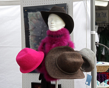A choice in style and color for felted hats.