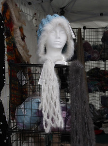 Hat with matching trim and scarf.