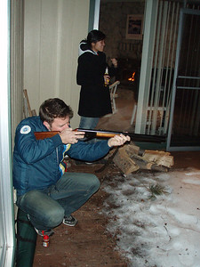 Bret Hogan shooting a BB Gun