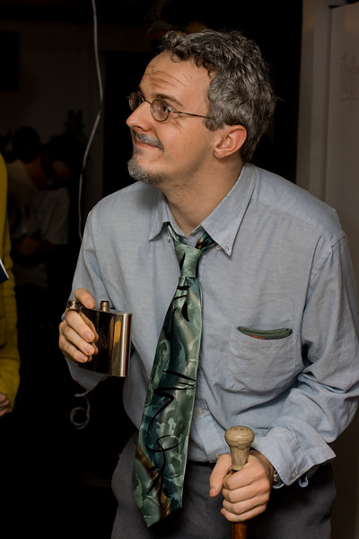 Andy as an older version of himself.