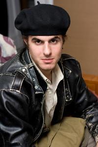 Alex wearing the Not-Xavier hat.