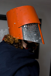 Mercutio's helmet, offering more protection than my hard hat yet not ASTM certified.