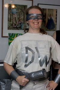 Celeste as Duct Tape Woman.