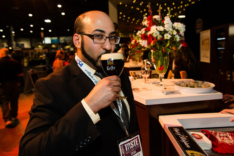Look, smell, and taste the beer as soon as you get it. In this case we have Leffe Brown.