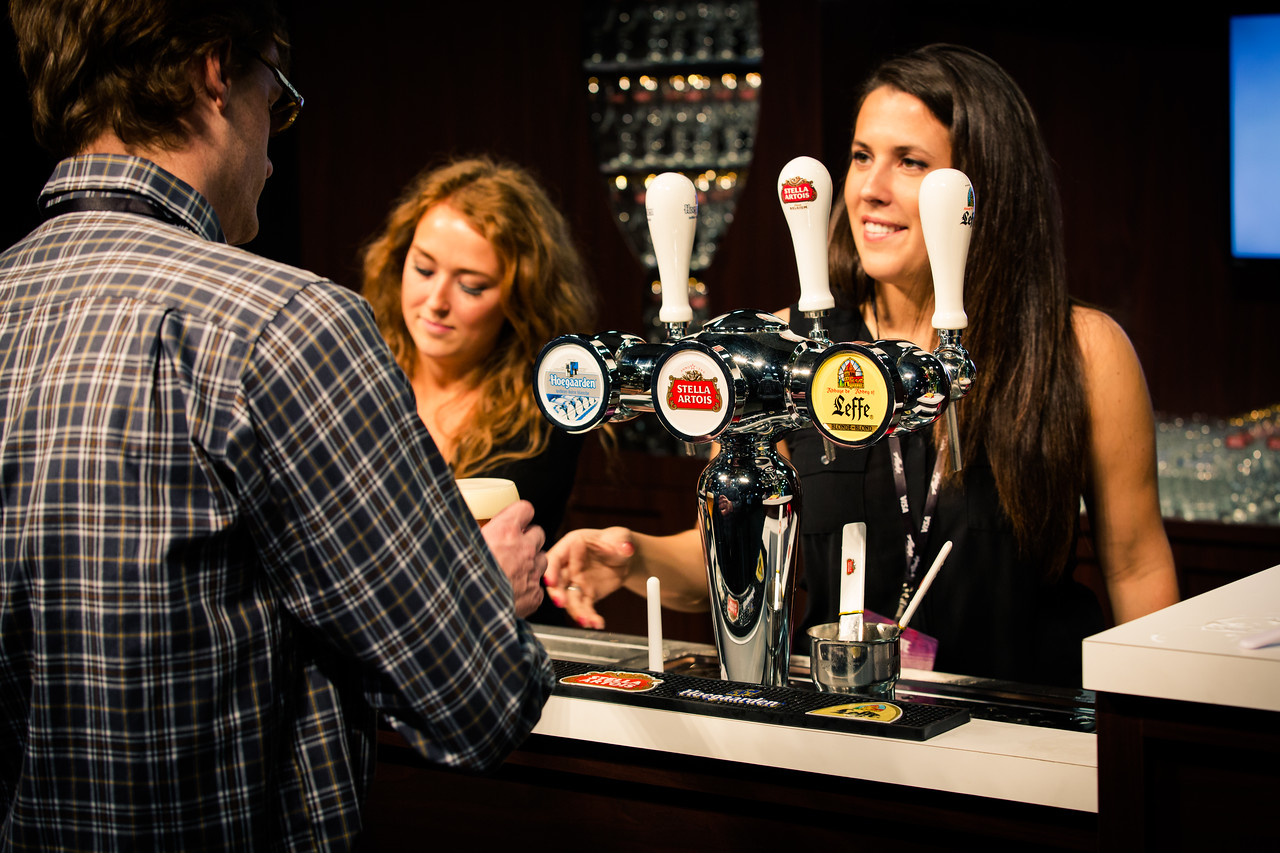 Pouring the perfect pint begins with clean taps and service with a smile.