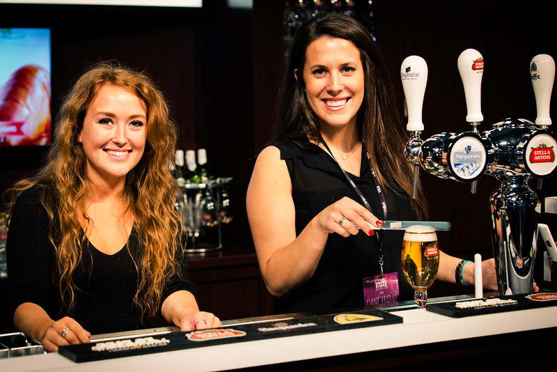 These were our lovely beer experts today.  Are you ready for a Stella yet?