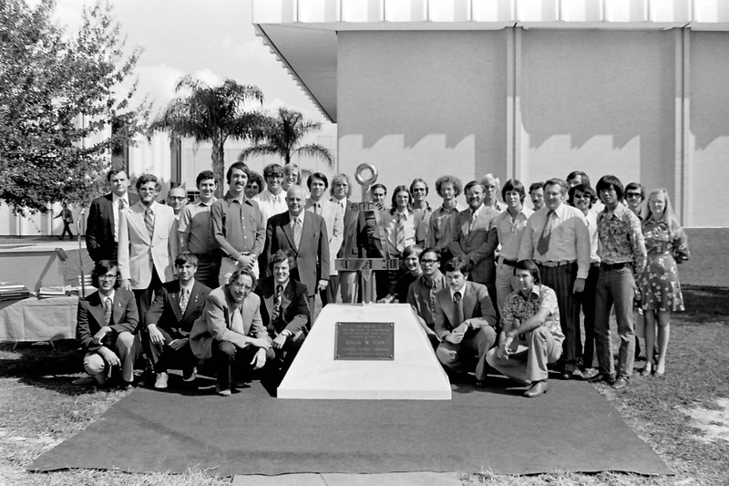 014 1975 FL Gamma members with their newly installed and dedicated Bent monument