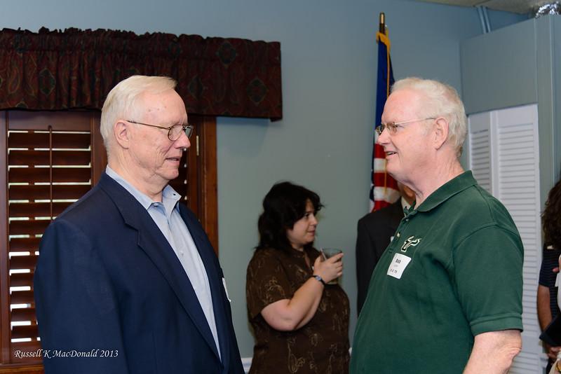 L2R: Bill Collins, Bob Lynn. Bill was the first President of TBP FL Gamma Chapter and Bob was the first Treasurer.