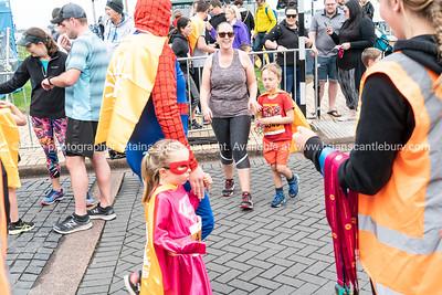 Finishing in Kids Dash of Tauranga International Marathon