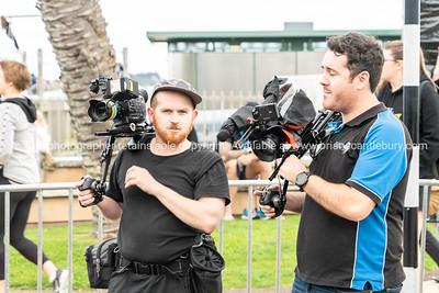 Videographers at Tauranga International Marathon i