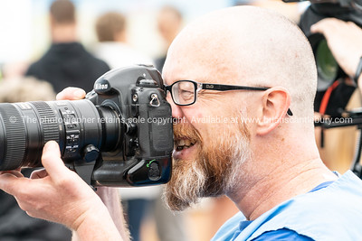Photographer, close-up at Tauranga International Marathon