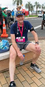 TAURANGA NEW ZEALAND - SEPTEMBER 22 2018;  Tauranga International Marathon images around finish line at first running of event. @TaurangaInternationalMarathon