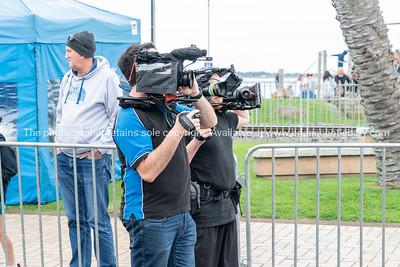 Videographers at Tauranga International Marathon