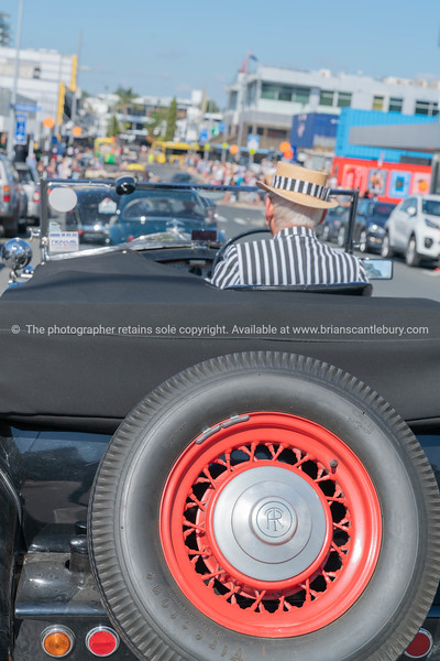 Vintage car parade in Willow Street Tauranga.