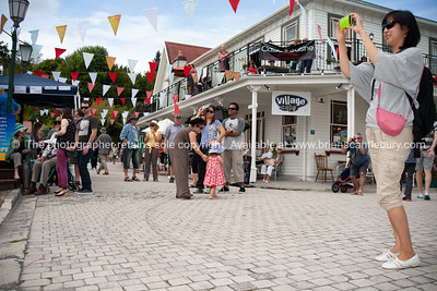 Tourists enjoying Tauranga Historic Village.