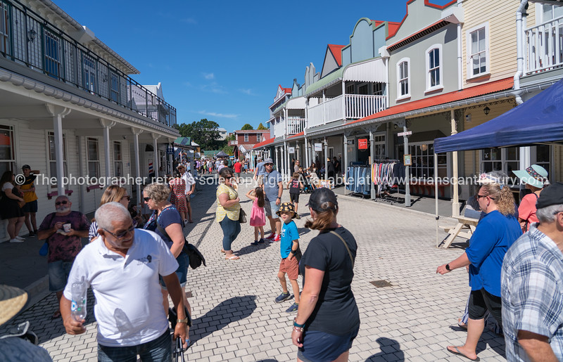 Tauranga Historic Village street scene during National Jazz Festival.