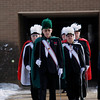 Record-Eagle/Jan-Michael Stump<br /> Knights of Columbus members process from Christ the King Catholic Church in Acme Saturday,following the funeral of United States Air Force Tech Sgt. Matthew Schwartz.