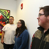 Lowell Community Health Center Teen BLOCK's RevoYOUTHtion youth conference. From left, Anthony Roman, 16, Salena Phaisikhieuv, 18, and Shea Trzcienski, 17, all of Lowell.  (SUN/Julia Malakie)