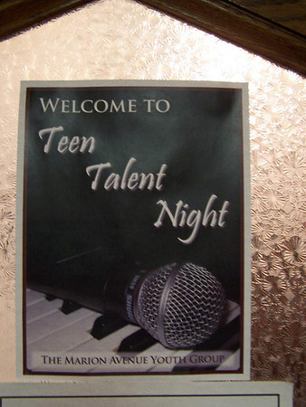 Youth Group Talent Night