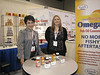 Kintech USA trade show exhibit, with Kristi, promoting Omega 3 fish oil.