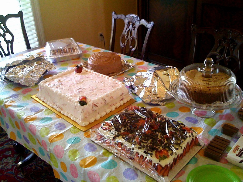 Day 45. My Cousin-in-Law's Annual Good Friday Family Outing. This is the only a small part of my Cousin-in-Law's Annual Good Friday Family Outing Dessert Table.