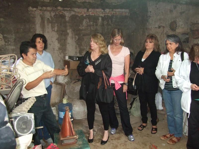 November 2013 - Feria Maestros trip - around Lake Cajititlan to visit artisans<br /> Martin Ibarra, Rosie, Marcella, Wendy, Olga, Trinie, Dolly