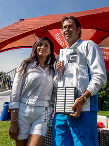 CS Cologny tennis gentlemen's team captain and wife