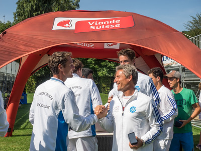 Grasshopper Club Zürich gentlemen's team greeting CS Cologny