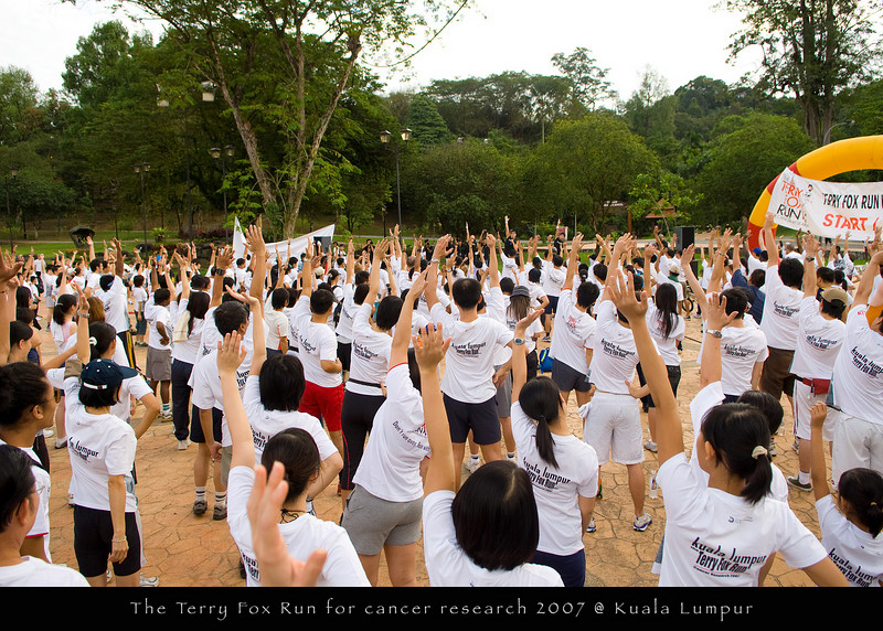 The Terry Fox Run for cancer research 2007 @ Kuala Lumpur