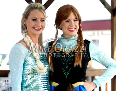 8/26/2017 Mike Orazzi | Staff Jordan Witik as Elsa and Sarah Keck as Anna during the Terryville Lions County Fair Saturday morning.