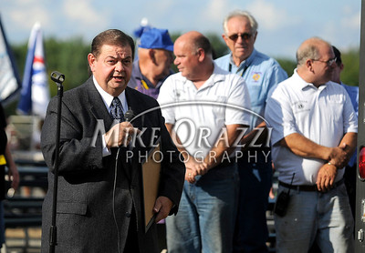 8/26/2011 Mike Orazzi | Staff Plymouth Mayor Vincent Festa officially opens the Terryville Fair on Friday evening.