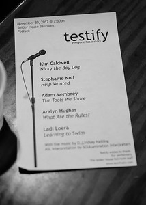 Testify presents Potluck 11/30/2017