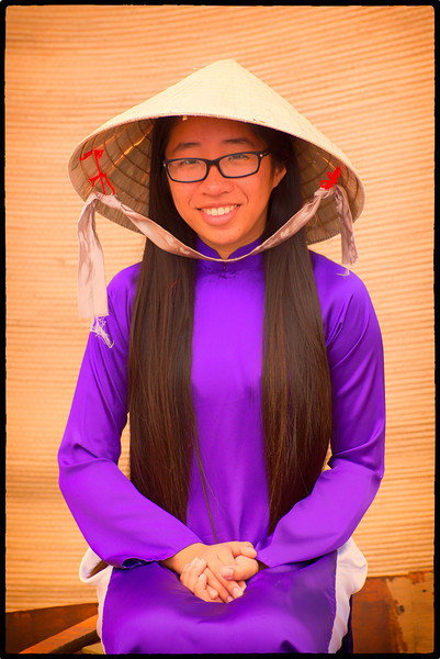 Young Vietnamese Boat Maiden