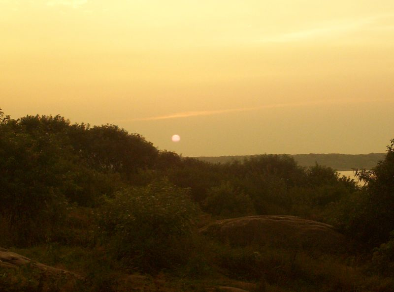 Sunset on the Island, no not the Red Planet yet.
