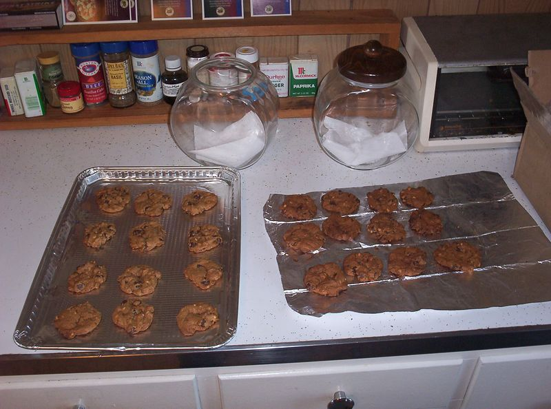 Island Cookies: one cup chunky peanut butter, one cup dark brown sugar, packed, one tsp. baking soda, one egg, one cup chocolate chips, mix all the above. Bake at 350 degrees until puffed and slightly cracked on the tops. Cool and enjoy.