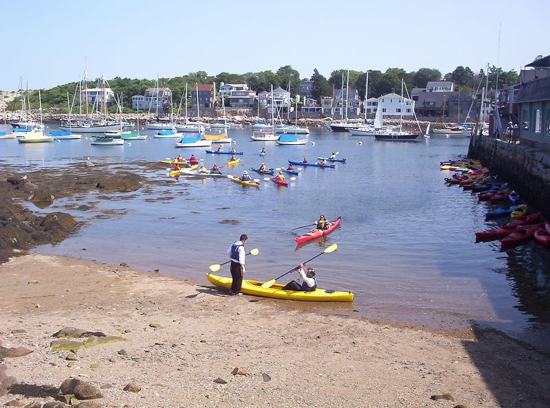 North Shore Kayak Outdoor Center's launch area.