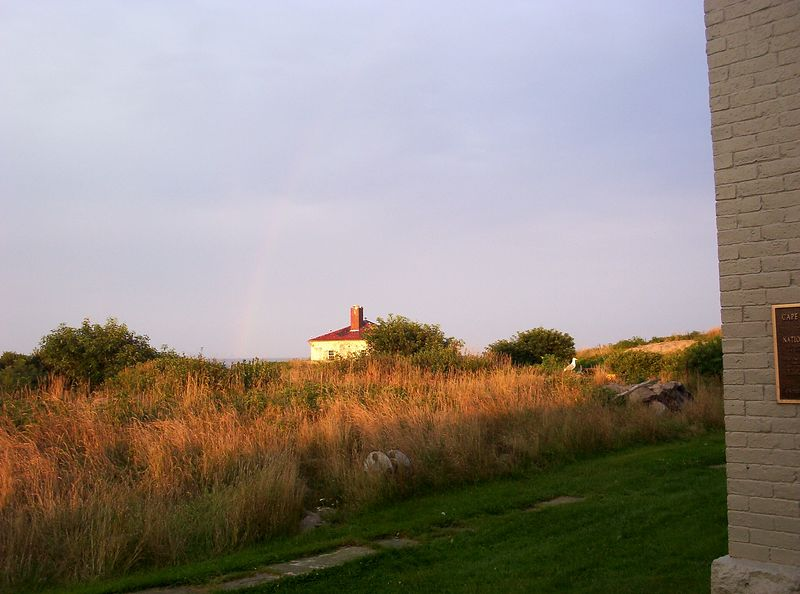 Look closely and see the rainbow to the left of the Whistle House.