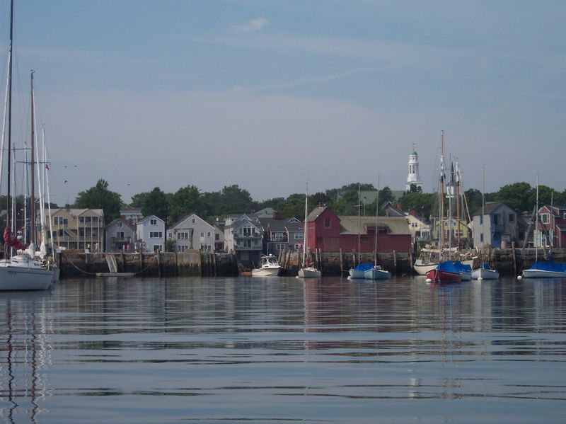 Quick trip to town for supplies, entering Rockport Harbor.