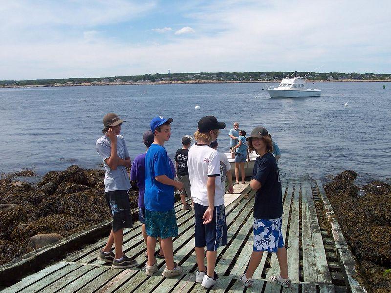 Coastal Discovery kids say good-bye to the Island.