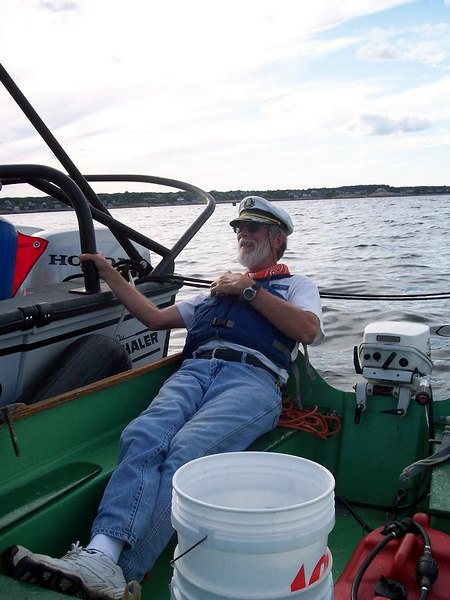 Captain John can relax and chat.