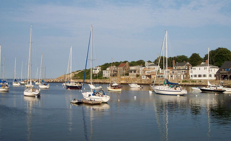 Rockport Harbor and all is calm.