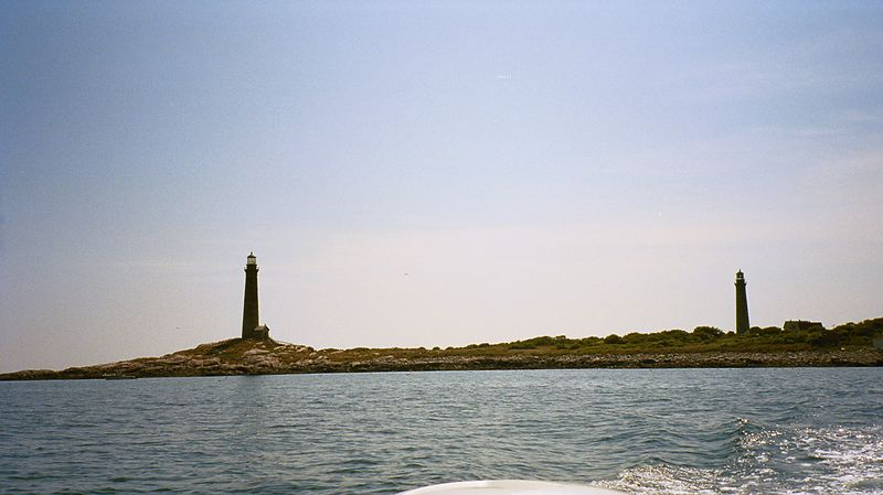 Twin lights on Thacher Island.