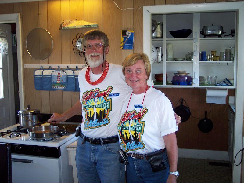"Keepers, John and Darlene ""fixin a Southern breakfast""."