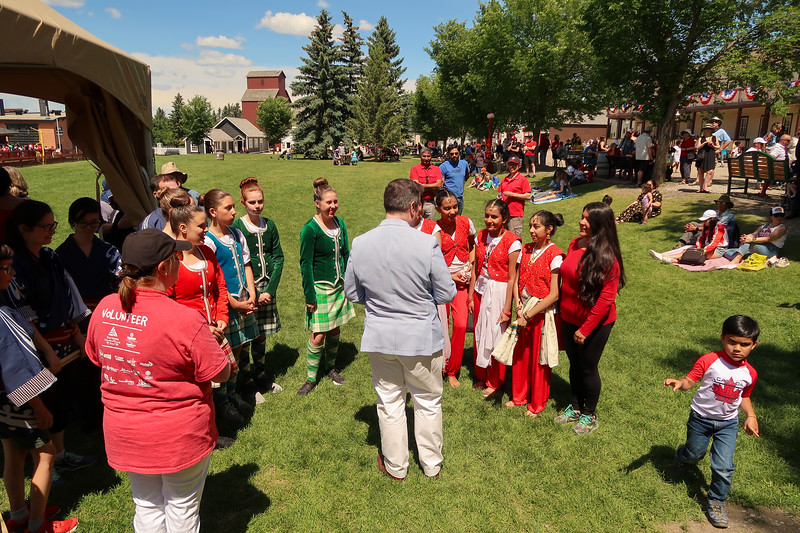 Girls with Honourable Premier of Alberta Mr. Jason Kenney