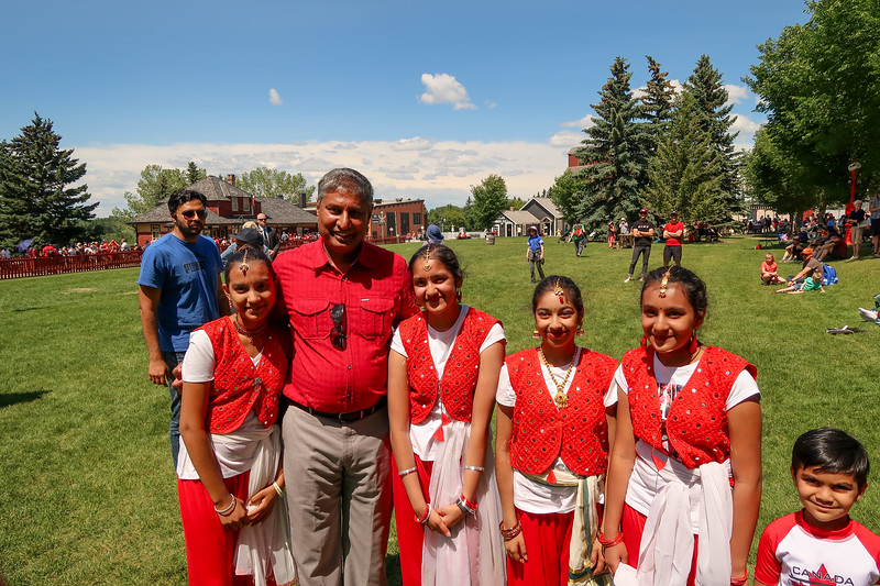 Girls with Minister of Infrastructure Mr. Prasad Panda