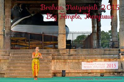 Ms Valerie Kanti Fernando, France. Guru Shri Karikrishna Kalyansundaram. Brahan Natyanjali 2015, Big Temple, Thanjavur, Tamil  Nadu, 19th February, 2015. http://brahannatyanjali.in/