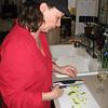 Mo preparing the salad
